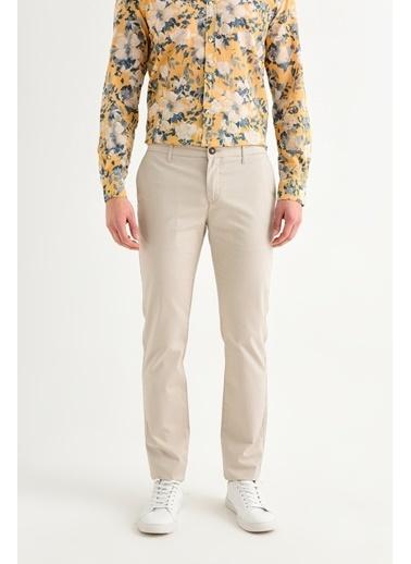 Avva Erkek  Yandan Cepli Armürlü Slim Pantolon A01S3075 Bej